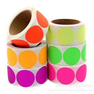 Chroma Label, 1 дюйм, цветные этикетки, 500/рулон, черные, белые, зеленые, синие, оранжевые, красные, розовые, желтые канцелярские наклейки