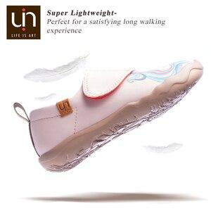 Image 3 - UIN ילדה וunicorn אמנות צבוע ילדים אופנה ורוד נעלי מיקרופייבר עור סניקרס עבור בנות/בני נוחות נעלי סתיו /אביב