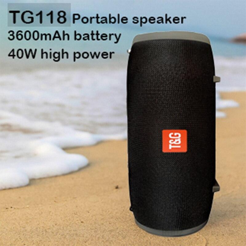 Портативные Bluetooth колонки 40 Вт, беспроводная звуковая панель с басами, Hi Fi стерео сабвуфер, звуковая система, музыкальный центр, FM радио, бум бокс| |   | АлиЭкспресс