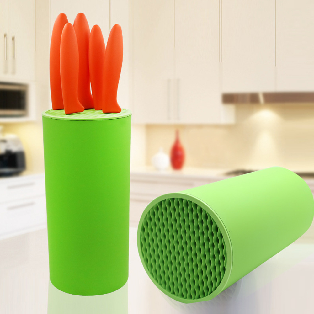 Accessories Home Plastic Kitchen Storage Multifunctional Rack Tool Easy Clean Stand Shelf Safe Knife Holder Organizer