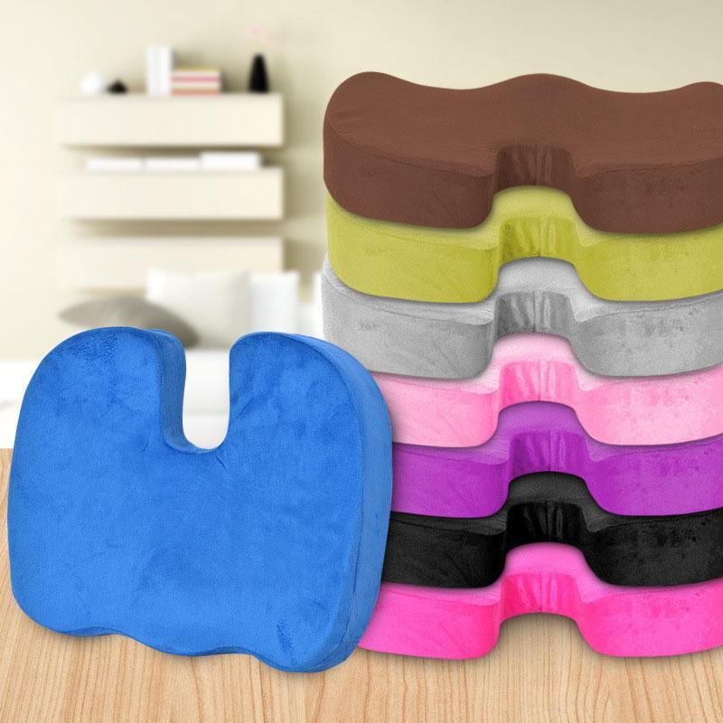 5 assento respirável coxim cóccix ortopédico espuma de memória u assento cadeira de massagem almofada de assento de carro u-shape