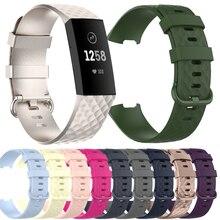 Ремешок силиконовый для Fitbit Charge 3 4 SE, мягкий сменный браслет для мужчин и женщин, подходит для часов Fitbit Charge 3 4 SE, 2021