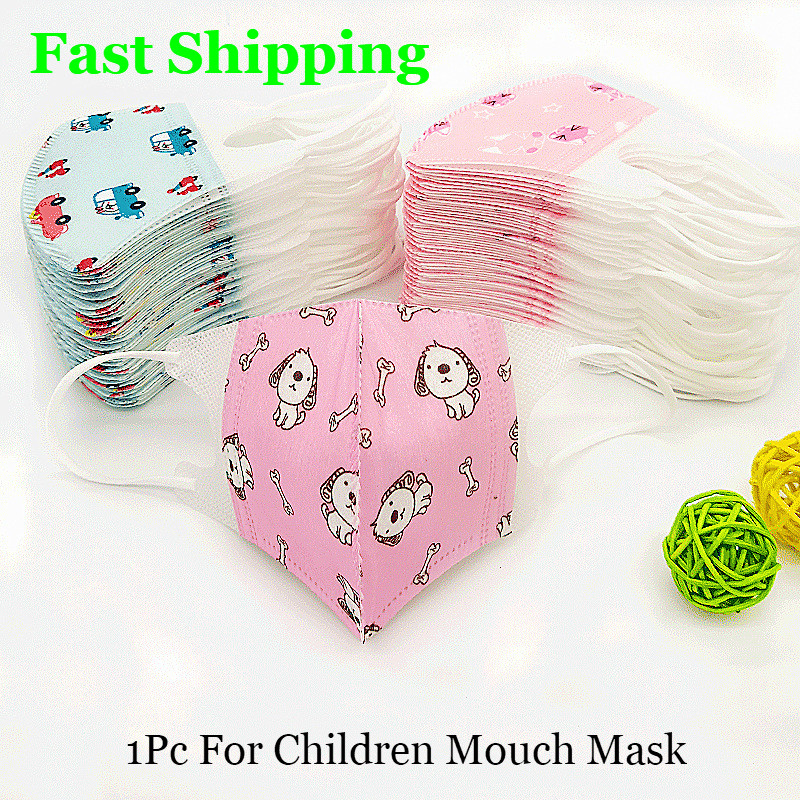 1 Pcs Disposable Children Mouth Mask PM2.5 Masks Anti Dust Mouth Cover Respirators Unisex Breathable Anti-pollution Health Mask