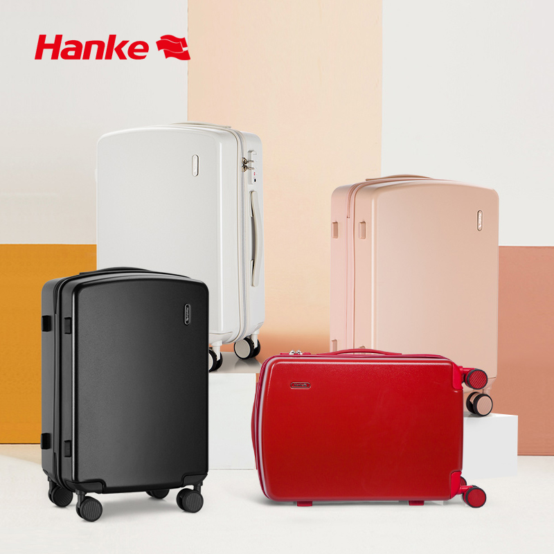 NASDAQ Screen Recommended Brand Luggage Brief Design Rolling Suitcase Carry On Cabin 8 Spinner Wheels 100% Polycarbonate 20 24