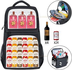 Image 2 - DENUONISS 절연 피크닉 배낭 온도 맥주 쿨러 가방 여성용 냉장고 어린이 열 가방 2 구획 야외 하이킹