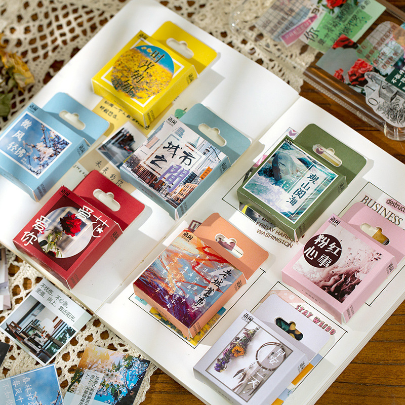 50 pcs/box Sunny after rain series Decorative Stationery ins Stickers Scrapbooking DIY Diary Album S