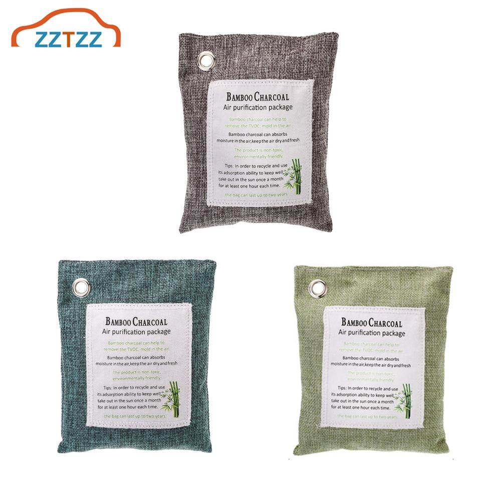 1Pcs Bamboo Charcoal Car Deodorizer/Car Freshener Bag   Remove Air Odor  Air Purifying Bag for Cars  Closets  Bathrooms|Air Freshener| |  - title=