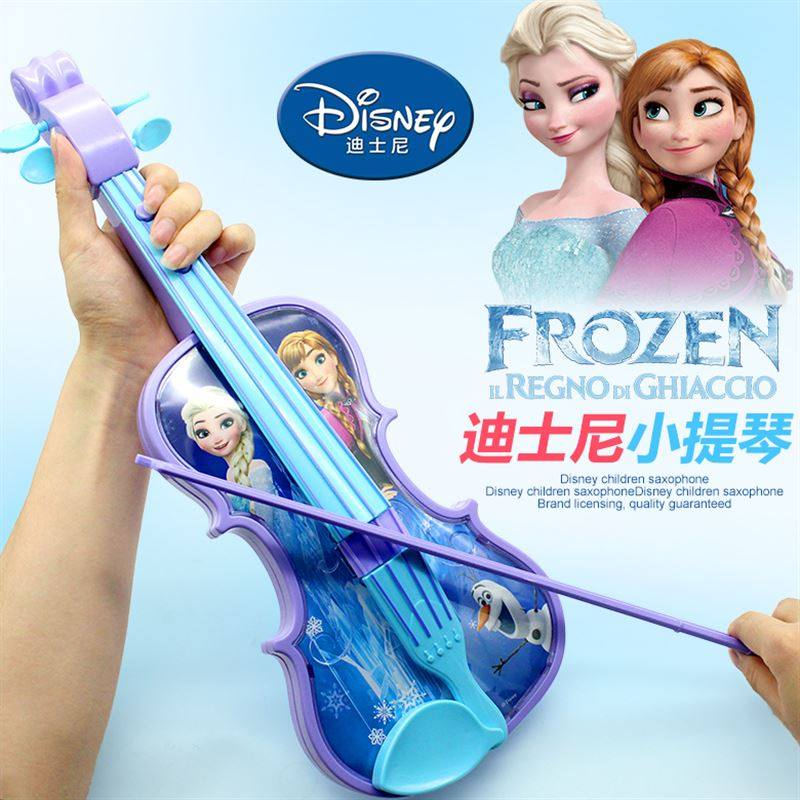 Disney Frozen Princess Violin Musical Instrument Sophia Simulated Musical Instruments Can Play Educatioy Education Toys Gift