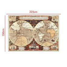 Cartel Vintage decoración estudiante escuela estilística enseñanza de la geografia atlas ciencia ficción película Tesoro no tejido mapa