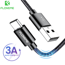 FLOVEME 3A USB Type C Cable For  Xiaomi Micro USB Cable For Samsung  Fast Charging USB Cable for iPhone 12 pro 11 Charger Cord