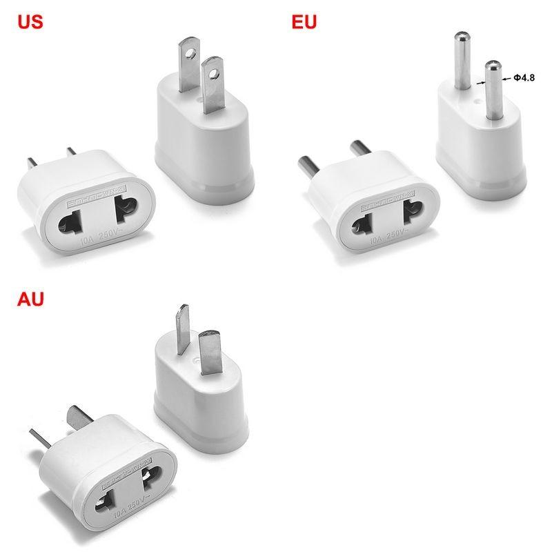 EU AU Australia UK to US America Wall Socket Power Adapter Plug Travel Converter