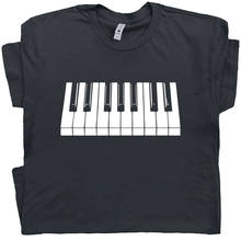 Piano Keyboard T Shirt Beethoven Mozart Keytar Keys Cool Pianist Player Gift Tee(China)