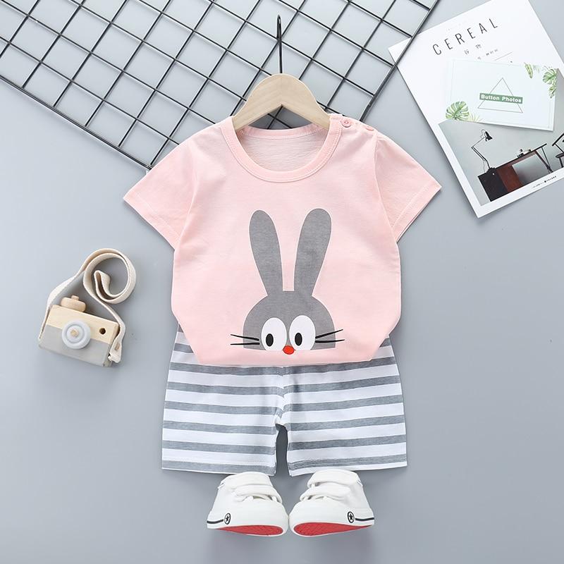 2020 Summer Boys Clothes Sport Suit Set Fashion Casual Short Sleeve O-neck Children's Clothing Set 2 Pieces T-Shirt + Pants