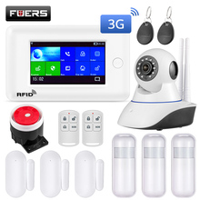 Fuers WIFI Smart Home Security Alarm System 3G Anti Theft System 4.3 inch Color Screen APP Remote Control PIR Motion Sensor