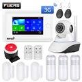 Fuers wifi умная домашняя система охранной сигнализации 3g противоугонная система 4,3 дюймов цветной экран приложение дистанционное управление ...