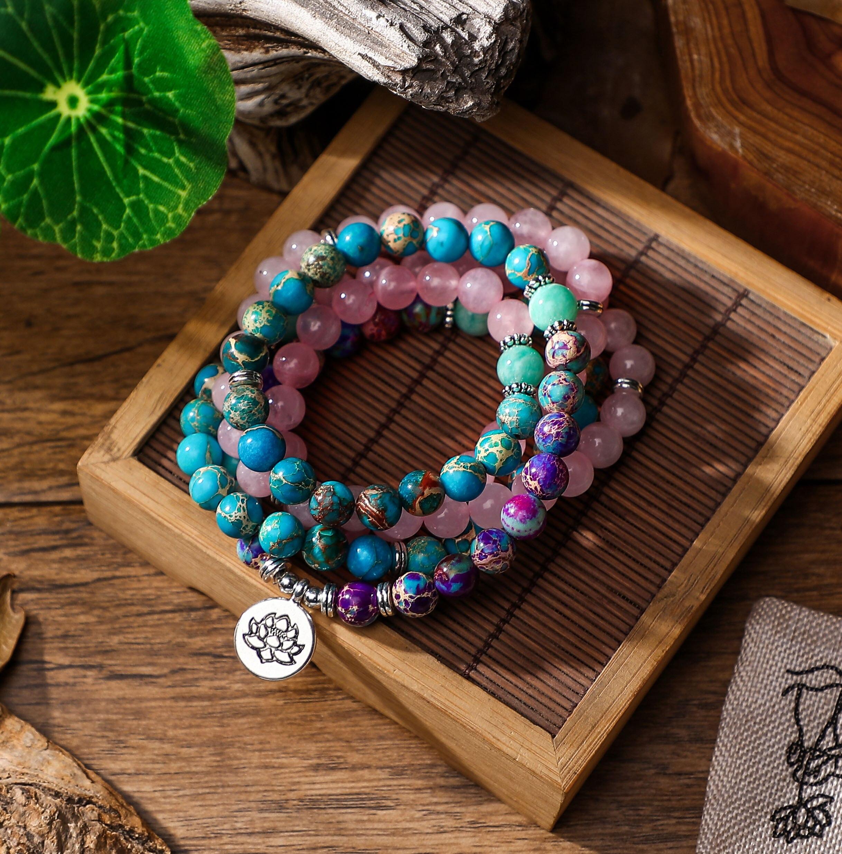 108 Mala Bracelet Women's Accessories Natural Stone Jewelry Dropshipping