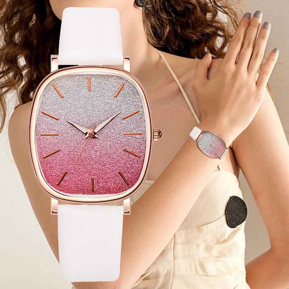Luxury Tonneau Classical Fashion Women Casual Quartz Watches Exquisite Ladies Dress Wristwatch Female Watch Montre Femme Relo