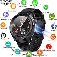 2021 LIGE IP68 Wasserdichte Intelligente Uhr Männer Herzfrequenz EKG Blutdruck Monitor LED Taschenlampe Sport Fitness Tracker sm