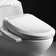 Умное сиденье для унитаза FOHEEL, теплое сиденье для биде с сухим воздухом, электрическая крышка для унитаза