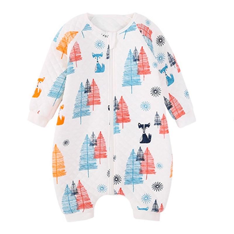 Baby Sleeping Bag Legs Cotton Sleeping Bag Cute Cartoon Child Jumpsuit Pajamas Newborn Sleeping Bag