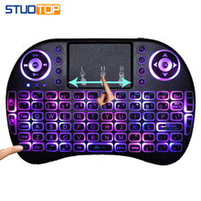 Mini Wireless Backlit Keyboard Multimedia Remote Control Keys and PC Gaming Control Touchpad, for PC Pad Android TV Box Smart TV vontar 2 4ghz h1 plus wireless air mouse mini keyboard remote control standard or backlit full touchpad for pc android tv box