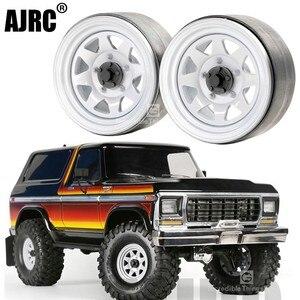 Image 1 - 4 шт. 1,9 дюйма металлическая Ступица колеса обод Beadlock для 1/10 Rc Гусеничный автомобиль Trx4 Bronco Rc4wd D90 D110 Axial Scx10 90046 Jimny Cfx Vs4
