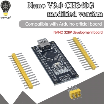 WAVGAT Nano Mini USB With the bootloader compatible 3.0 controller CH340 driver 12Mhz v3.0 Same as ATMEGA328P - discount item  8% OFF Active Components
