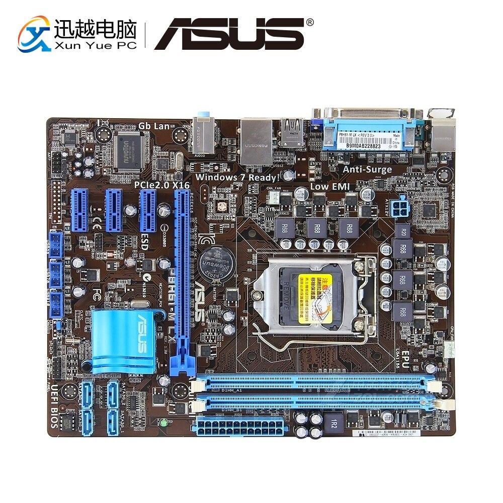 Asus P8H61-M LX  Desktop Motherboard H61 Socket LGA 1155 For Core I3 I5 I7 DDR3 16G SATA2 USB2.0 UATX Original Used Mainboard