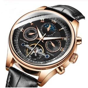 Image 3 - Senors Mannen Automatische Horloge Echte Horloge Mannen Automatische Mechanische Tourbillon Horloge Luxe Fashion Rvs Sport Horloges