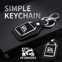 """אופנוע מתכת עור keychain מפתח מראה מותאם אישית לוגו עבור BMW R 1200 GS R1200 LC R1200GS R 1200GS עו""""ד הרפתקאות אבזרים"""
