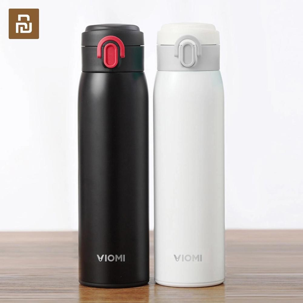 New Original Youpin VIOMI Stainless Steel Vacuum 24 Hours Flask Water Smart Bottle Thermos Single Hand ON