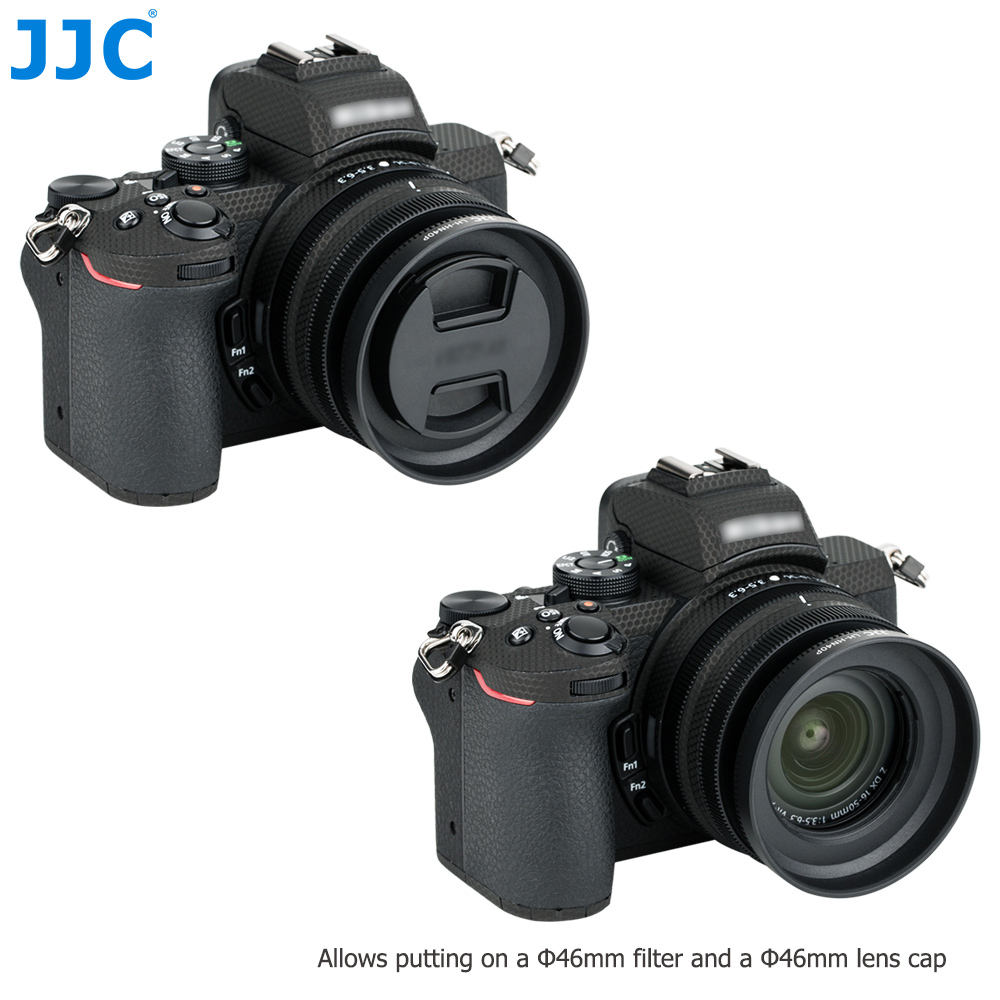 JJC LH-J55C Black Lens Hood for Olympus M.Zuiko Digital ED 12-50mm 1:3.5-6.3 EZ