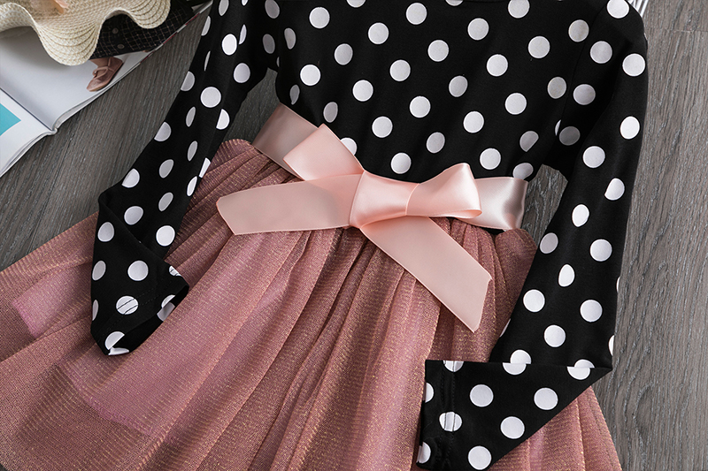Baby Kids Autumn Winter Dresses For Girls Party Frock Lace Hollow Princess Children School Wear Kids Clothes Girl  Clothing 6T 4