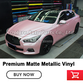 Highest quality matte Metallic Cherry Pink Wrapping film vinyl wrapping film Car wrapping paper with air release channels