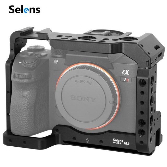 Selens a7iii a7r3 a7m3 jaula para Sony A7RIII /A7III/A7MIII jaula de aleación de aluminio para montar trípode Kit de extensión de liberación rápida 2087