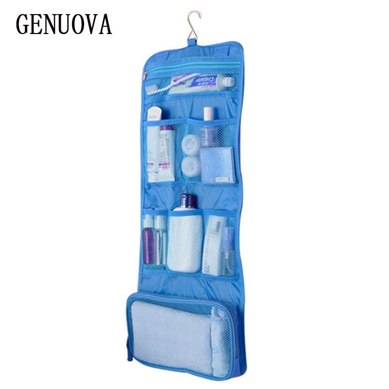 Women Man New Professional Nail Box Organizer Traveling MakeUp Case Foldable Wash Storage Bag Hanging Toiletry Sac Cosmetic Bag