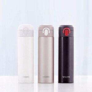 Image 2 - Viomi portátil vácuo garrafa térmica 300ml/460ml material de liga leve 24 horas garrafa térmica única mão em/fechar