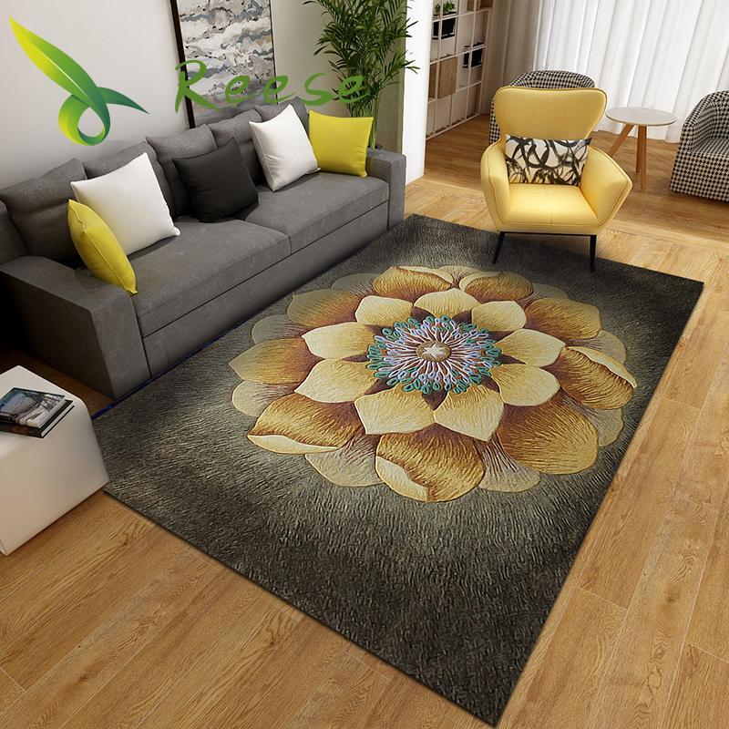 Aliexpress Hot Sale Modern Soft Floral Japanese Carpets For Livingroom Bedroom Parlor Non-slip Antifouling Factory Direct Supply