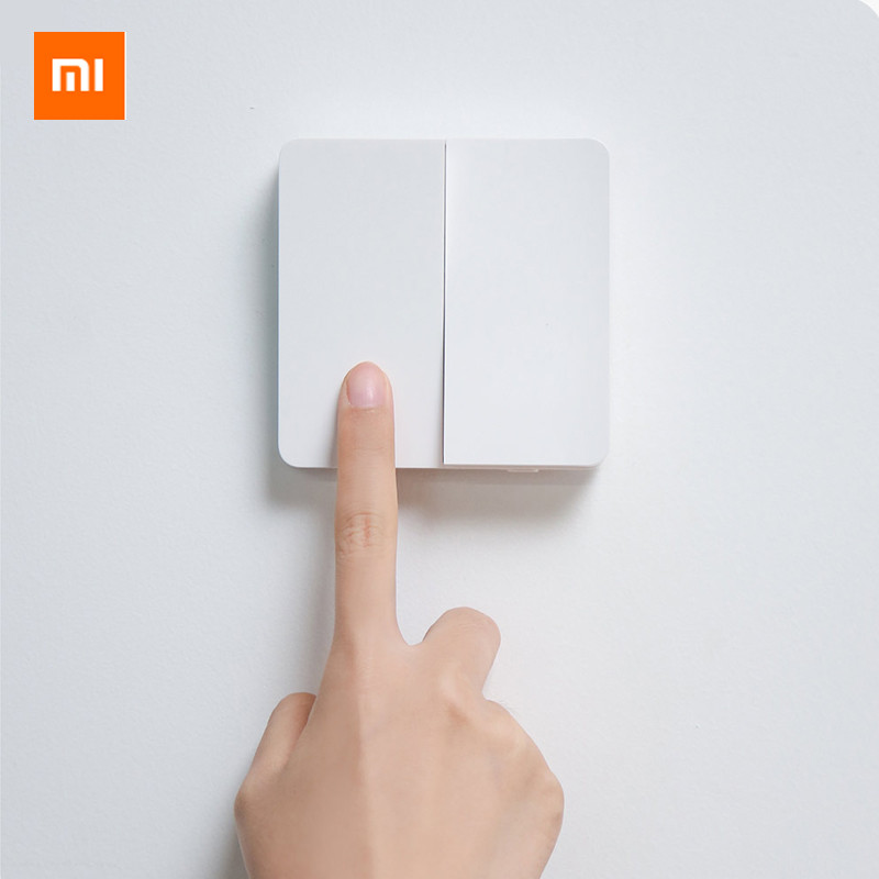 Original Xiaomi Wall Switch Mijia Wall Switch Compatible with traditional and smart lights Single and dual control Wall Switch