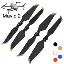 4 шт., пропеллеры с низким уровнем шума для DJI Mavic 2 Pro Zoom, Быстроразъемное лезвие, 8743, шумоподавление, запчасти для дрона, винтовые принадлежнос...