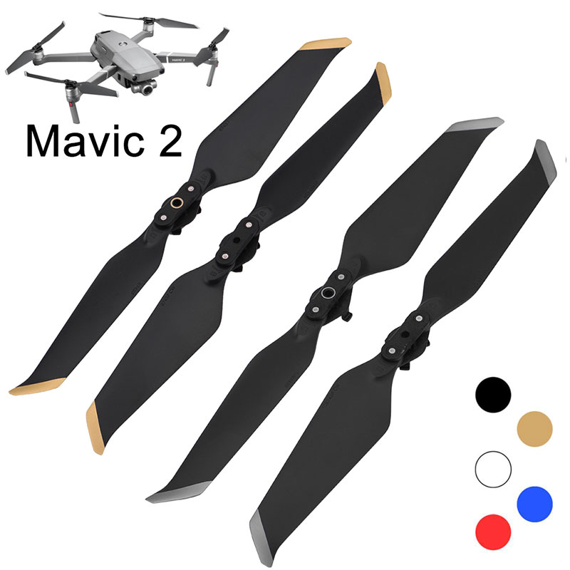 4PCS Low-Noise Props Propeller For DJI Mavic 2 Pro Zoom Quick-Release Blade 8743 Noise Reduction Fan Drone Parts Screw Accessory
