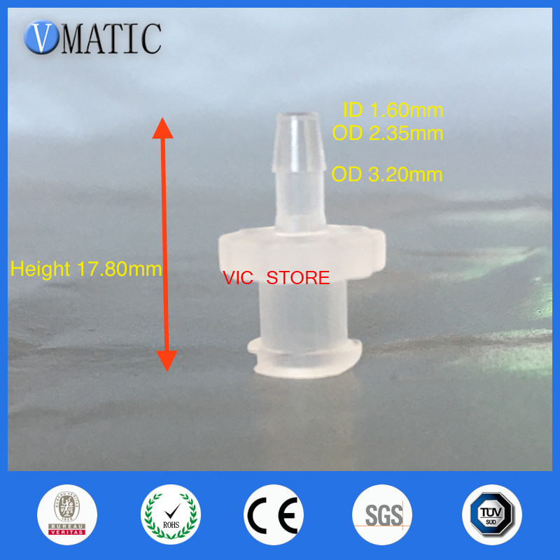 Free Shipping Pack Of 10 X 3/32 Inch Barb Female Luer Tapered Syringe Fitting (Polyprop) Luer Lock Tapered Connector