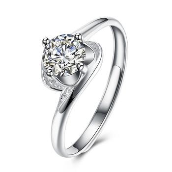 925 srebro kamień naturalny Moissanite pierścionki dla kobiet biżuterii Anillos De Bizuteria kamień z diamentowy pierścionek Box tanie i dobre opinie HOYON SILVER 925 sterling CN (pochodzenie) Kobiety GDTC Prong ustawianie Diamond Fine Jewelry for women ROUND TRENDY Zespoły weselne