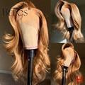 Beeos 180% 360 волнистые волосы, волнистые волосы, медовый светлый цвет, предварительно отобранные волосы ребенка, отбеленные узлы, бразильский Р...