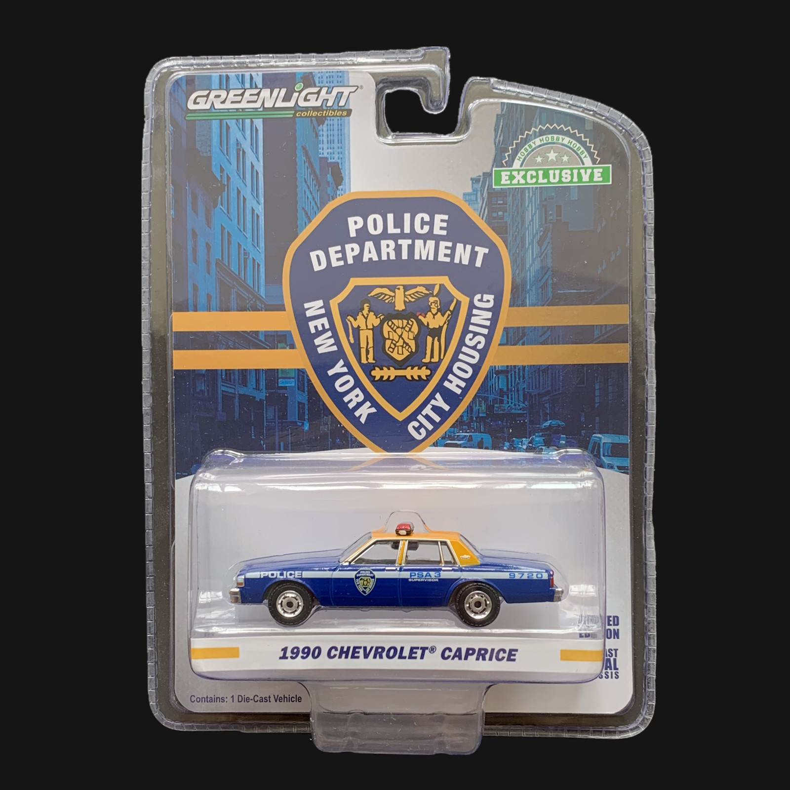 Greenlight Cars 1/64 1990 <font><b>Chevrolet</b></font> Caprice police car Collector Edition Metal Diecast Model Car Kids Toys Gift image