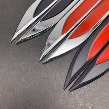 1 par 3d metal emblema etiqueta do lado do carro fender faca adesivos para honda lexus land rover mitsubishi infiniti gti subaru toyota