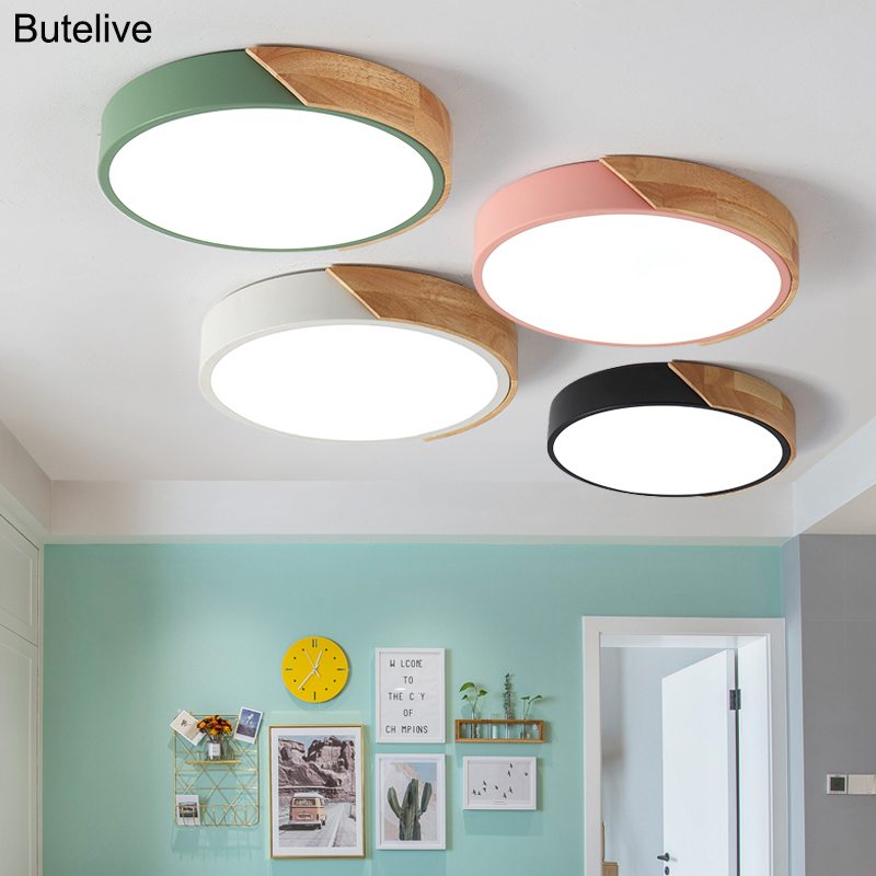 5cm Ultra Thin Led Ceiling Lights for Living Room Lights Dimmable Modern Ceiling Lamp Nordic Bedroom Kids Room Plafonnier Led|Ceiling Lights| |  - title=