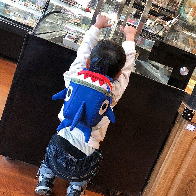 Children's Bags 2018 New Style Kindergarten BOY'S Baby Girls Anti-Lost Mini Fashion Shark Backpack