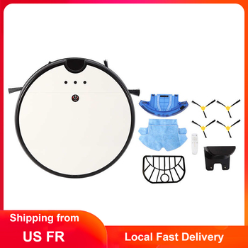 Robot Vacuum Cleaner APP Remote Control Floor Cleaning Robot 1800Pa Powerful Suction Dry Sweeping Wet Mopping Automatic Recharge pakwang 2018 robot vacuum cleaner sweeping mopping with camera wi fi control night surveillance video call 7000mah battery