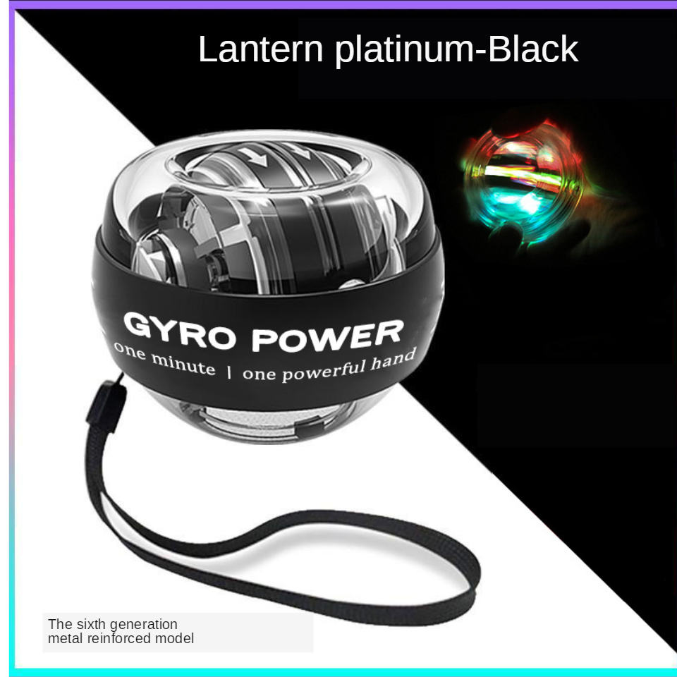 Diodo emissor de luz auto-partida de energia bola de pulso de energia bola de mão muscular relaxar spinning instrutor de pulso equipamentos de exercício strengener
